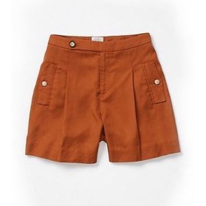 NWT Anthropologie Coquille brushed Trouser Shorts